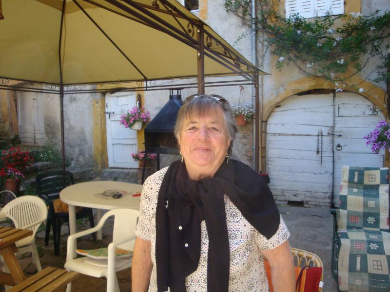 Aimee, de moeder van Francis van camping La Vernède